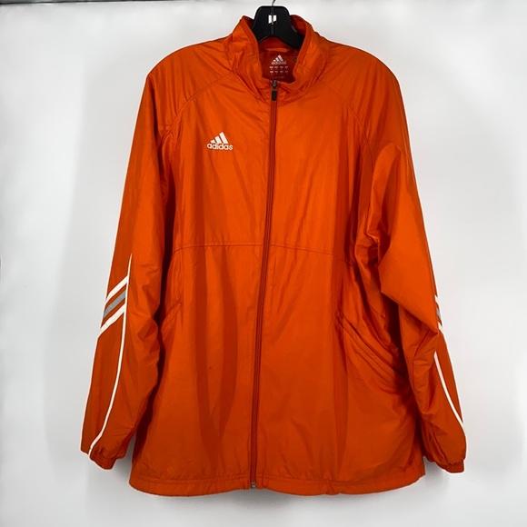 Men's Adidas ClimaLite Orange Track Jacket Medium